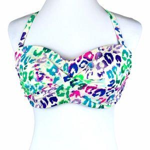 Victoria's Secret Vibrant Leopard Print Bikini Top